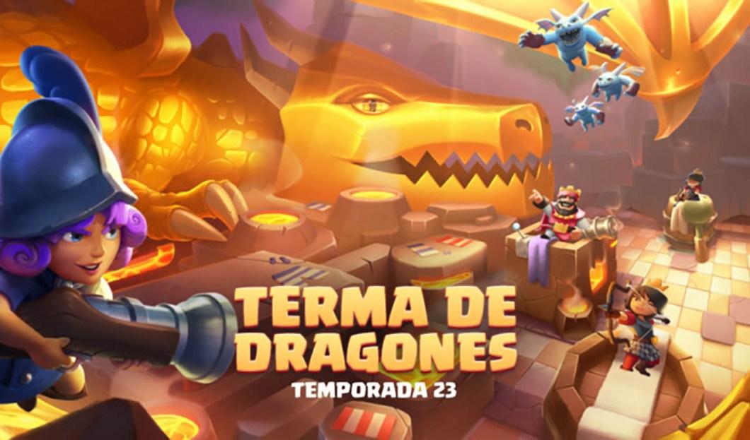 temporada 23 de clash royale terma de dragones 1