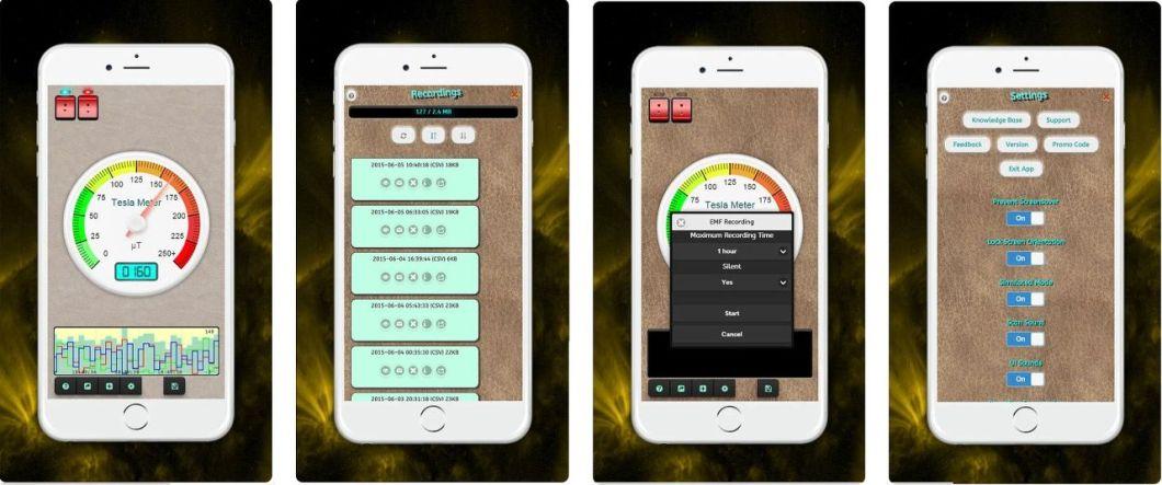 Capturas de app detector de metales