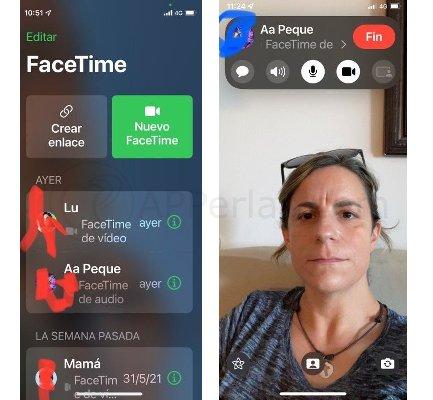 Nueva interfaz de Facetime en iOS 15