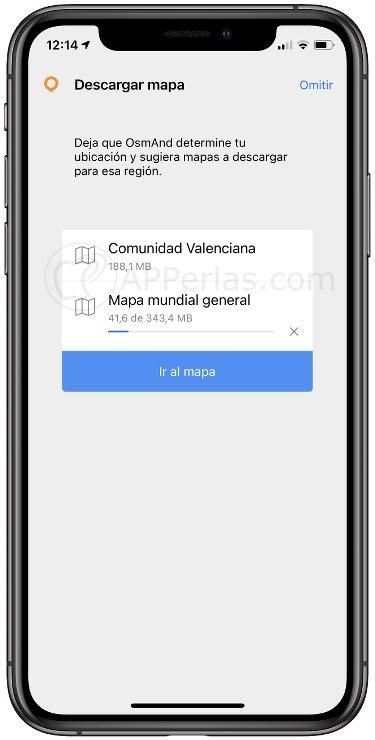 Descarga de mapas en OsmAnd Maps