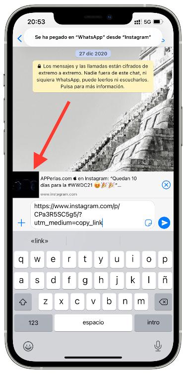 vídeos de Instagram en WhatsApp 1