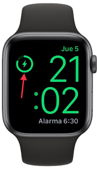 porcentaje de batería del Apple Watch 1