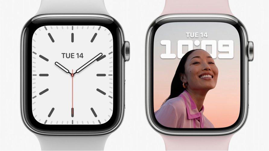 Diferencia entre Apple Watch 6 (Izq.) y el nuevo Series 7 (dch.)
