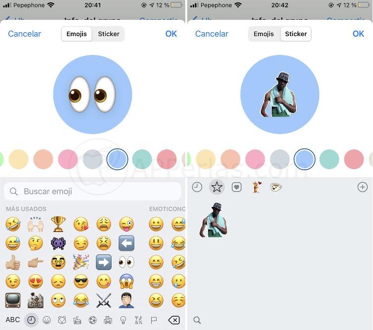 Crea imágenes de perfil con emojis y stickers