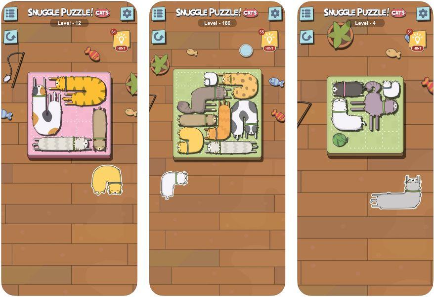 Snuggle Puzzle Cat Game