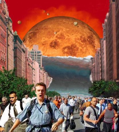 paniek op de aarde