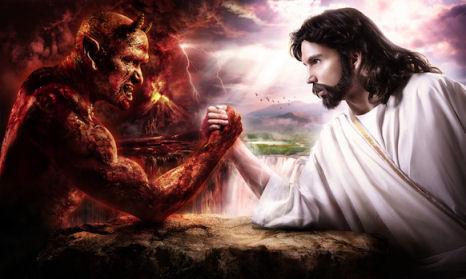 de duivel wordt verslagen