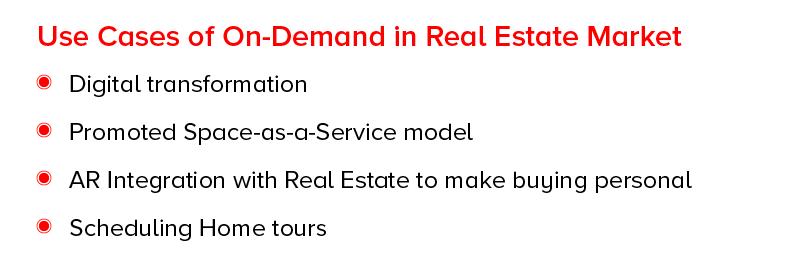 Пример использования по требованию на рынке недвижимости