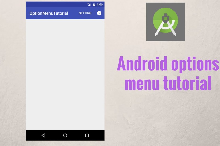 android menu option