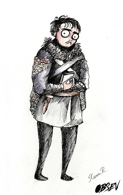 Game of Thrones Tim Burton Samwell Tarly