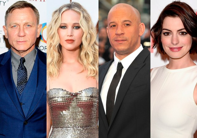 Mejores pagados Hollywood