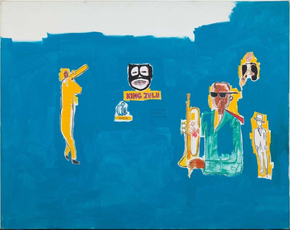 «King Zulu» de Jean-Michel Basquiat (1986)