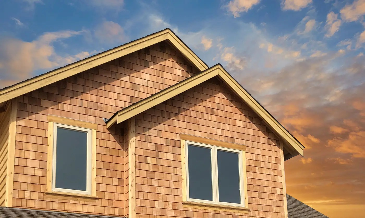 Cedar Shakes and energy-efficient windows
