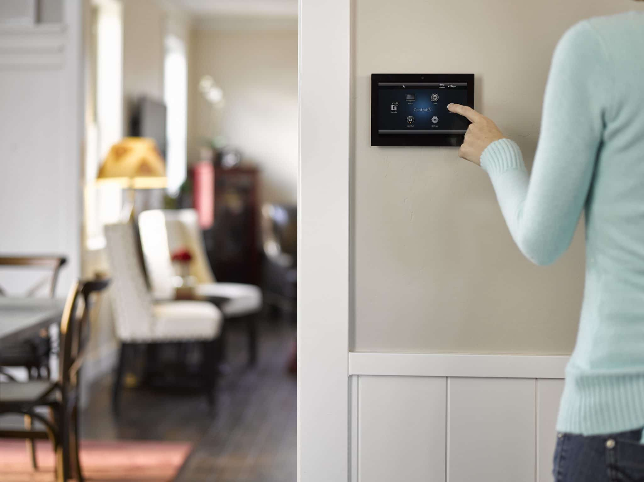 C4 in wall touch screen