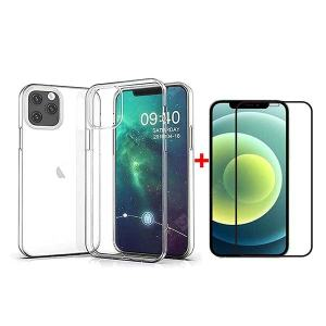 ASLING 3-in-1 Screen Protector + Camera Protection Film + High Quanlity TPU Phone Case for iPhone 12 Mini / 12 / 12 Pro / 12 Pro Max