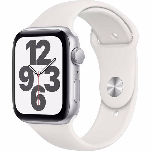 Apple Watch SE GPS 44mm (Zilver) Sportband (Wit)