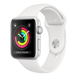 Apple Watch Series 3 38mm Zilverkleurig aluminium - Wit sportbandje