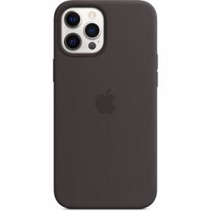 Apple siliconen telefoonhoesje iPhone 12 Pro Max (Zwart)
