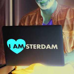 Laptop sticker I Amsterdam