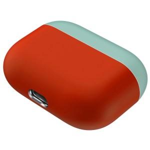 Voor Apple AirPods Pro Twee kleuren draadloze koptelefoon beschermhoes (groen rood)