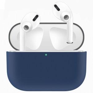 Voor Apple AirPods Pro tweekleuren draadloze oortelefoon beschermhoes (grijs blauw)