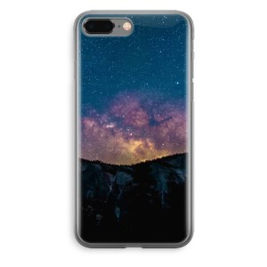 iPhone 8 Plus Transparant Hoesje (Soft) - Travel to space