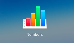 Numbers apple Excel
