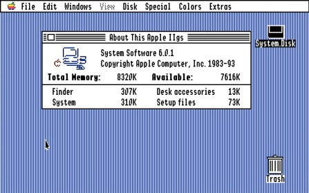 GS/OS 6.0.1 About this Apple IIGS