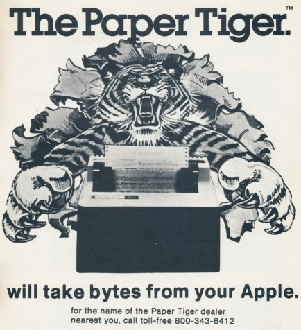 Integral Data Systems, Paper Tiger, Apple Orchard, May 1980