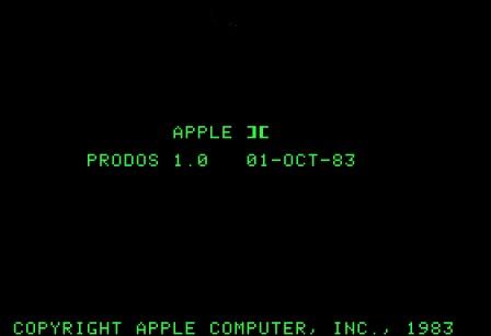 ProDOS 1.0 screenshot