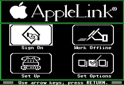 AppleLink Personal Edition, IIe screenshot