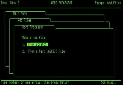 AppleWorks 1.3 screen shot