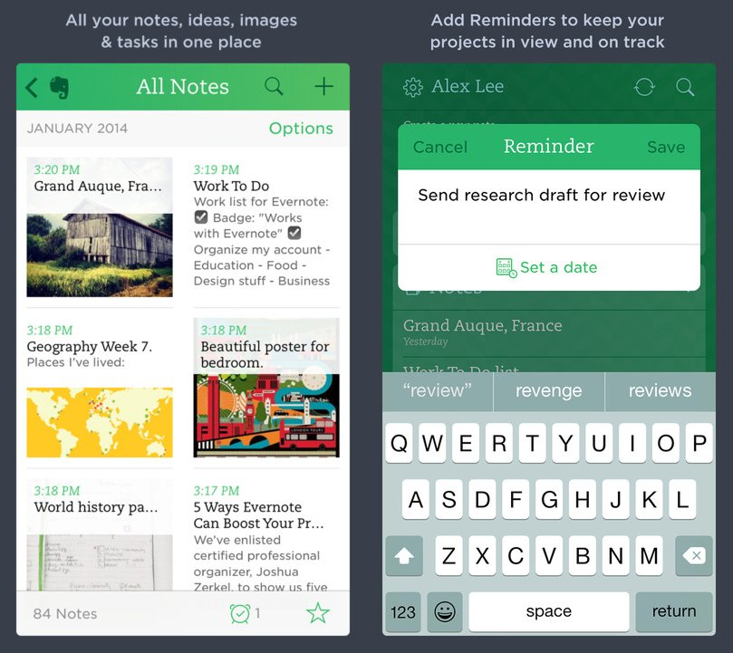 Instead of Notes, use Evernote.