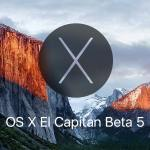 نظام Mac OS X 10.11 El Capitan Beta 5