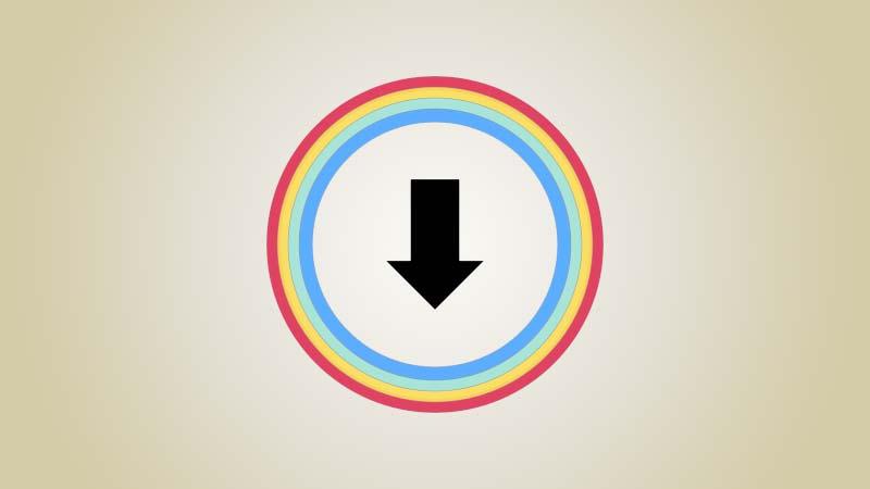 شعار تطبيق تحميل فيديوهات على الايفون