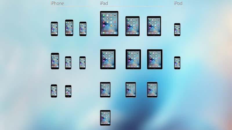 الأجهزة المتوافقة مع iOS 9