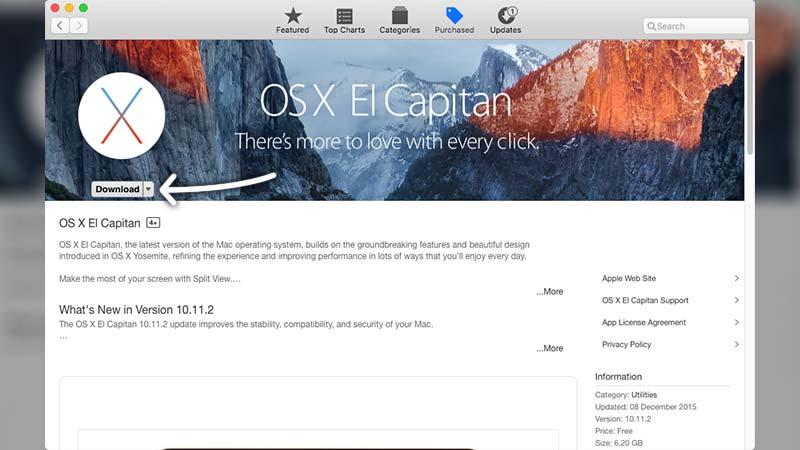 تحميل ماك OS X El Capitan