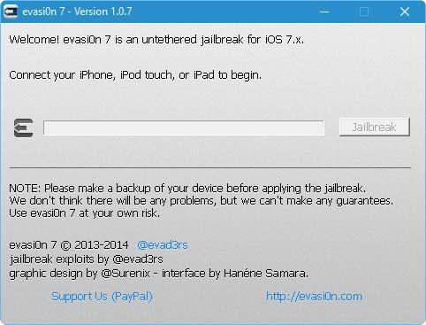 evasi0n7 لجيلبريك iOS 7