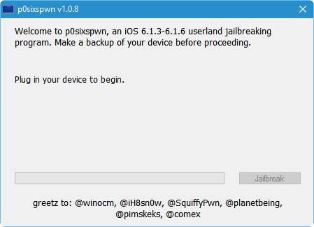 جيلبريك p0sixspwn لـ iOS 6