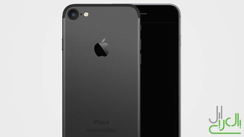 تصميم تخيلي للايفون 7 باللون الأسود الداكن