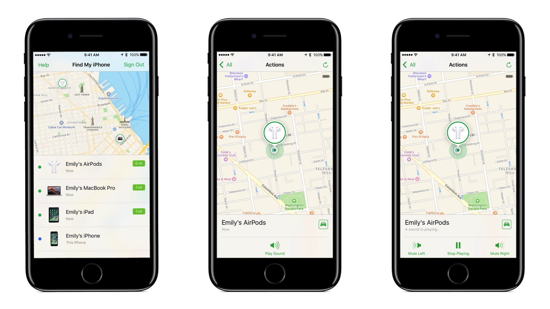 ميزة العثور على AirPods في iOS 10.3 بيتا 1