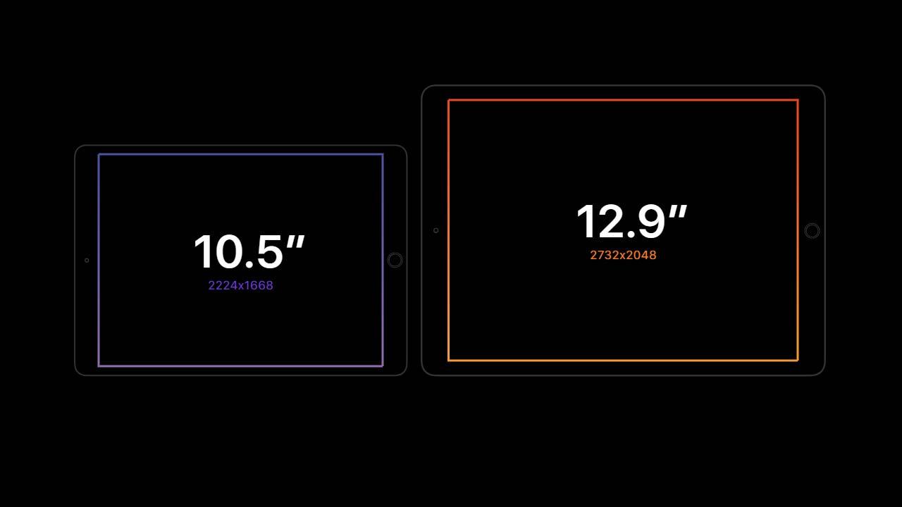 شاشة ايباد برو 12.9 و10.5 إنش