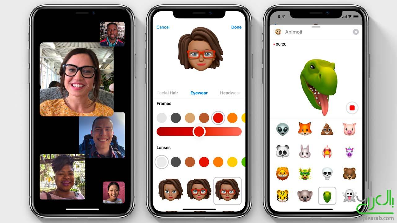تطبيق الرسائل وفيس تايم في iOS 12