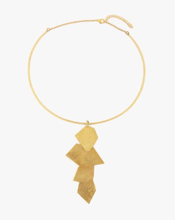 Ajio Gold statement neck piece