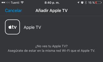 Agregar Apple TV