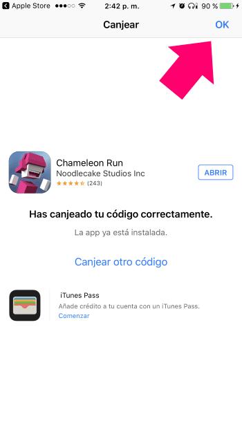 App descargada