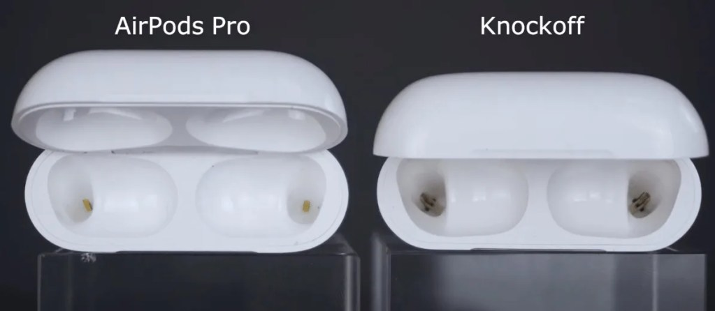 AirPods Pro connectors inside