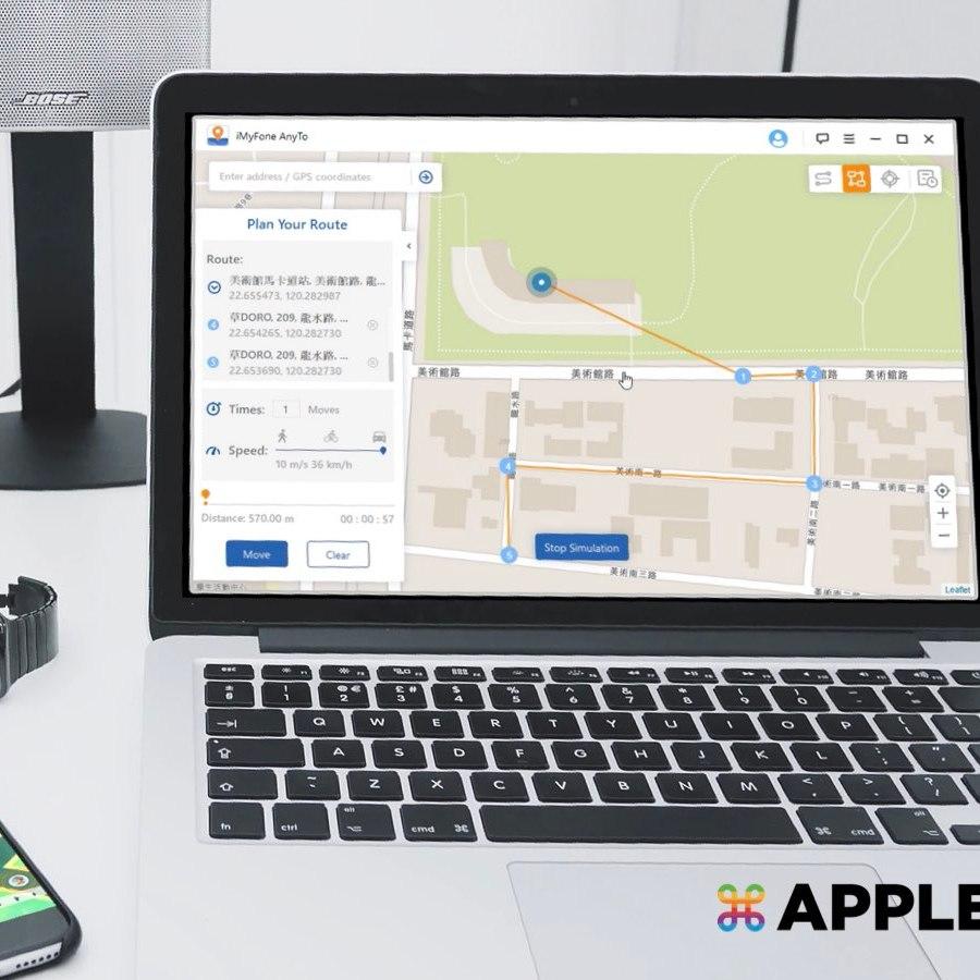 更改 iPhone GPS 定位