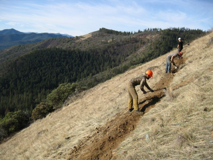 Local community crews rebuilt the Wolf Gap Trail, now local community members are protecting it from inappropriate motorized use. This effort will protect our environment, our wildlands and our neighbors in the Little Applegate Canyon from OHV trespass.