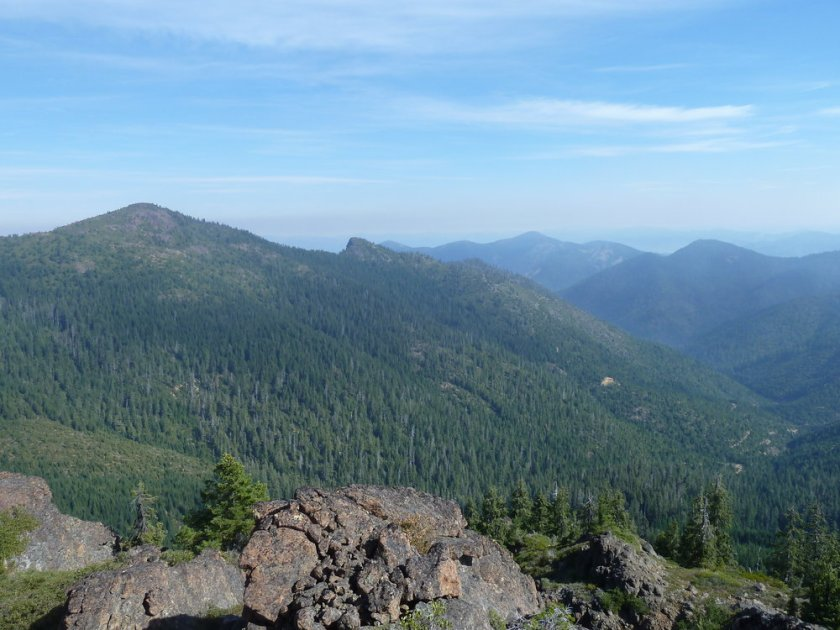 Looking north into the planning area from Kerby Peak, a favorite hiking area for residents of Williams, Grants Pass and the Illinois Valley.